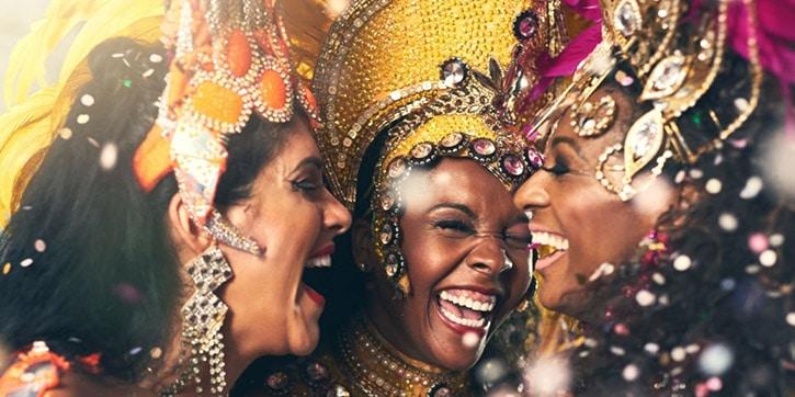 Donne al carnevale di Rio de Janeiro