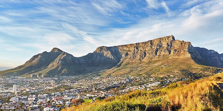 Table mountain a Cape Town